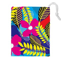 Design Decoration Decor Floral Pattern Drawstring Pouch (xxl)