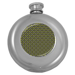 Flower Pattern Pattern Texture Round Hip Flask (5 Oz)