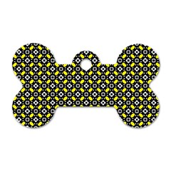 Flower Pattern Pattern Texture Dog Tag Bone (one Side)
