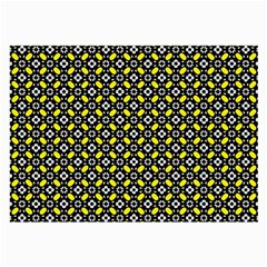 Flower Pattern Pattern Texture Large Glasses Cloth by Simbadda
