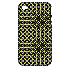 Flower Pattern Pattern Texture Apple Iphone 4/4s Hardshell Case (pc+silicone)