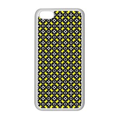 Flower Pattern Pattern Texture Apple Iphone 5c Seamless Case (white)