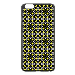 Flower Pattern Pattern Texture Apple Iphone 6 Plus/6s Plus Black Enamel Case