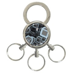 Cube Fantasy Square Shape 3 Ring Key Chains