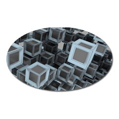 Cube Fantasy Square Shape Oval Magnet