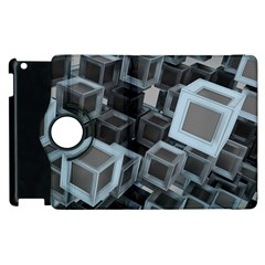 Cube Fantasy Square Shape Apple Ipad 2 Flip 360 Case