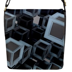 Cube Fantasy Square Shape Flap Closure Messenger Bag (s)