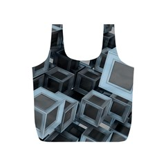 Cube Fantasy Square Shape Full Print Recycle Bag (s)