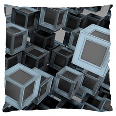 Cube Fantasy Square Shape Standard Flano Cushion Case (two Sides)