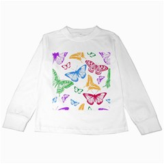 Butterfly Butterflies Vintage Kids Long Sleeve T Shirts
