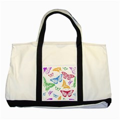 Butterfly Butterflies Vintage Two Tone Tote Bag
