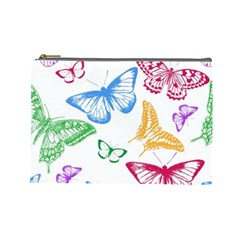 Butterfly Butterflies Vintage Cosmetic Bag (large)