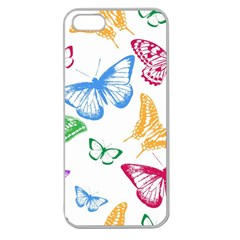 Butterfly Butterflies Vintage Apple Seamless Iphone 5 Case (clear)