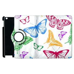 Butterfly Butterflies Vintage Apple Ipad 3/4 Flip 360 Case