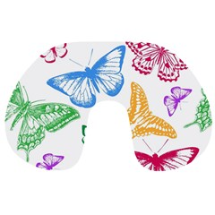 Butterfly Butterflies Vintage Travel Neck Pillows