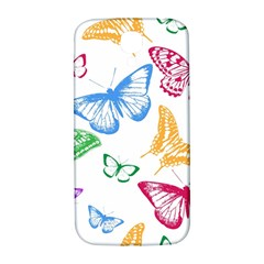 Butterfly Butterflies Vintage Samsung Galaxy S4 I9500/i9505  Hardshell Back Case