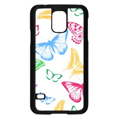 Butterfly Butterflies Vintage Samsung Galaxy S5 Case (black) by Simbadda