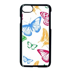 Butterfly Butterflies Vintage Apple Iphone 8 Seamless Case (black)