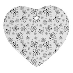 Atom Chemistry Science Physics Heart Ornament (two Sides)