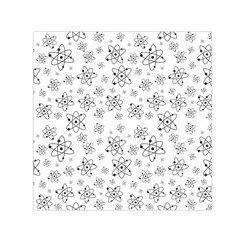 Atom Chemistry Science Physics Small Satin Scarf (square) by Simbadda