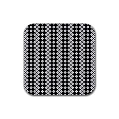 Black And White Texture Rubber Square Coaster (4 Pack)