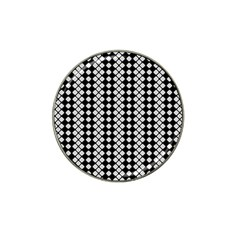 Black And White Texture Hat Clip Ball Marker (10 Pack)