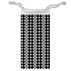 Black And White Texture Jewelry Bag