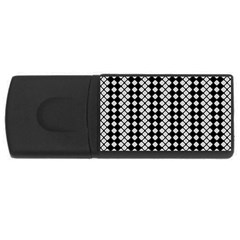 Black And White Texture Rectangular Usb Flash Drive