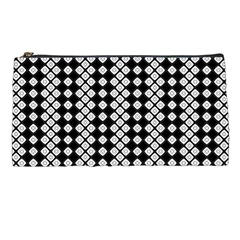 Black And White Texture Pencil Cases by Simbadda