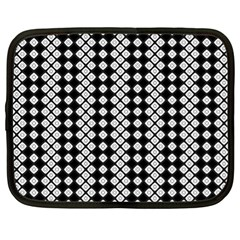 Black And White Texture Netbook Case (xl)