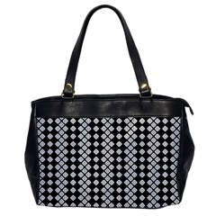 Black And White Texture Oversize Office Handbag