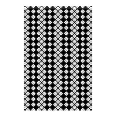 Black And White Texture Shower Curtain 48  X 72  (small)  by Simbadda