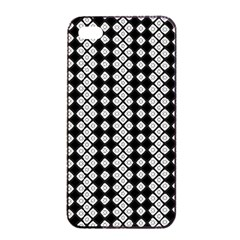 Black And White Texture Apple Iphone 4/4s Seamless Case (black)