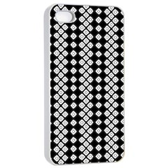 Black And White Texture Apple Iphone 4/4s Seamless Case (white)