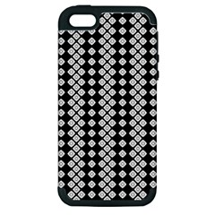 Black And White Texture Apple Iphone 5 Hardshell Case (pc+silicone)