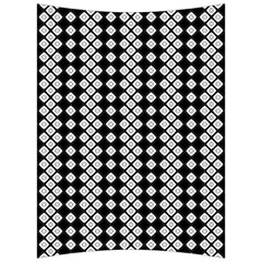 Black And White Texture Back Support Cushion