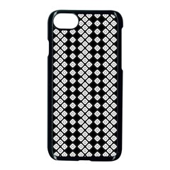 Black And White Texture Apple Iphone 8 Seamless Case (black)