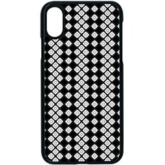 Black And White Texture Apple Iphone X Seamless Case (black)