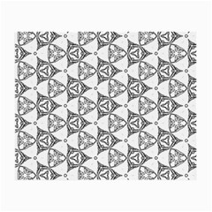 Black And White Pattern Small Glasses Cloth