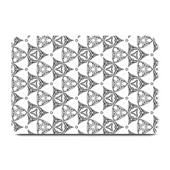 Black And White Pattern Plate Mats