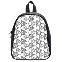 Black And White Pattern School Bag (small)