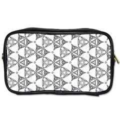 Black And White Pattern Toiletries Bag (one Side)
