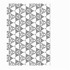 Black And White Pattern Large Garden Flag (two Sides) by Simbadda