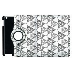 Black And White Pattern Apple Ipad 2 Flip 360 Case