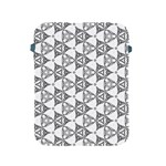 Black And White Pattern Apple iPad 2/3/4 Protective Soft Cases Front