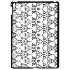 Black And White Pattern Apple Ipad Pro 9 7   Black Seamless Case