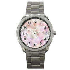 Watercolor Seamless Texture Sport Metal Watch
