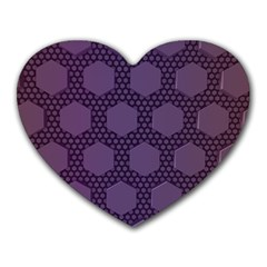 Hexagon Grid Geometric Hexagonal Heart Mousepads