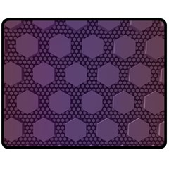Hexagon Grid Geometric Hexagonal Fleece Blanket (medium)