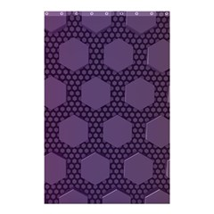 Hexagon Grid Geometric Hexagonal Shower Curtain 48  X 72  (small)  by Simbadda